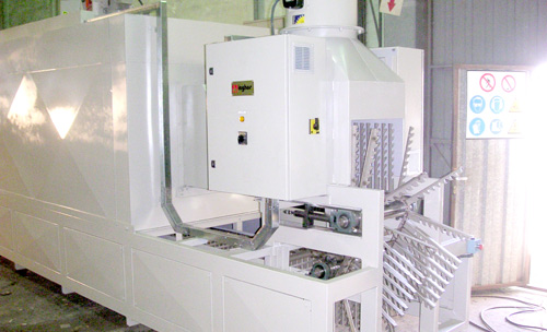 Unloaded zone of the continuous stabilization furnace