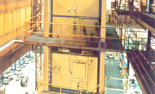 Vertical ovens for annealing and enameling of aluminium and copper wires