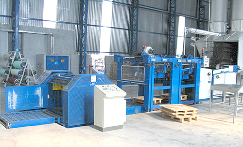 Pile turner in-line, non-stop stacker and oven exit table general view